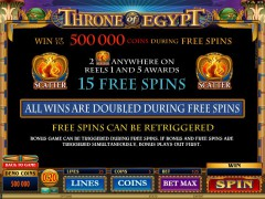Throne Of Egypt jocuri aparate aparate77.com Microgaming 3/5