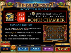 Throne Of Egypt jocuri aparate aparate77.com Microgaming 4/5