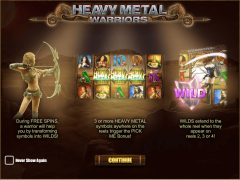 Heavy Metal Warriors jocuri aparate aparate77.com iSoftBet 1/5